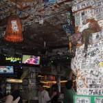 A bar on Kona beach front (with dollar bills for the decor)